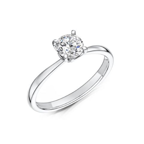 0.33 Carat GIA GVS Diamond solitaire 18ct White Gold Round brilliant Engagement Ring MWSS-1166/033